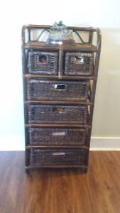 Beautiful Wicker Storage Stand