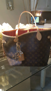 Louis Vuitton Neverfull MM Fuschia with pouch