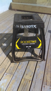 Motocross stands and gear