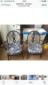 Pair of Fleur de Lys chairs