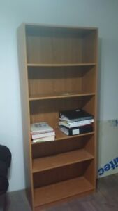 AVALABLE - Two tall wooden matching bookshelves