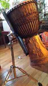 DJEMBE DRUM , Heavy Duty Stand and Carry Bag Cambridge Kitchener Area image 6
