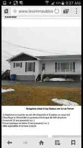 Maison a vendre a cap-bateau lamèque