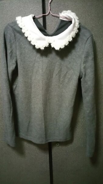 fur top with fur floral details collar