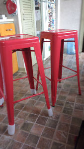 Price drop! Must go! New metal bar stools (set of 2)
