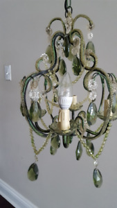Tadpoles 4-Light Green Mini Chandelier