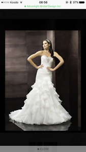 Brand New Moonlight Collection Fitted Ruffled Wedding Dress