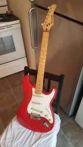 Guitare Rouge Mansfield Stratocaster Type