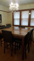 Pub Style Dining Set w/ 8 chairs