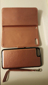 Iphone 7 plus brand new leather wallet case Cover. (New)