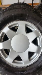 4 ESCALADE RIMS WITH NITTO TERRA GRAPPLERS LT265/70/17