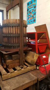 Industrial Grape Press and Two Electric Grape Crushers