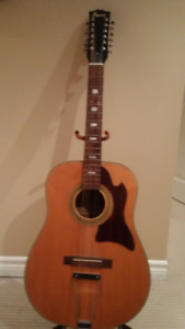 Early 70s Raven 12 string acoustic guitar