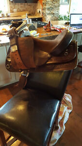 "Gently Used 15"" Western Saddle"
