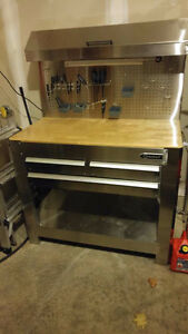 Almost brand new stainless KOBALT work bench