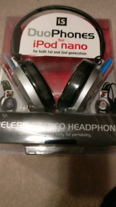 Unopened Duophones for ipod nano