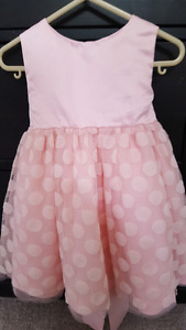 18-24 Month *Easter* Dress  Pale Pink with Polka-dots