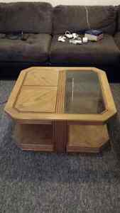 Coffee table, end tables and stand set