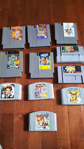 Nintendo game lot snes n64 and nes