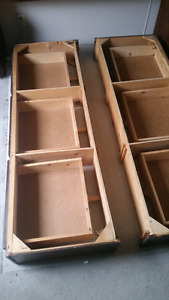 Bed frame, two pieces, three drawers on each - in Kelowna