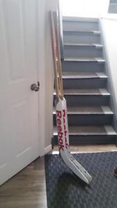 Two (2) Reebok 11k Goalie Sticks