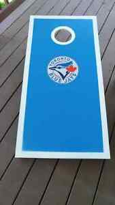Blue Jays Handcrafted Cornhole Bean Bag Toss Game Kitchener / Waterloo Kitchener Area image 9