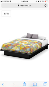 Platform storage queen bedframe