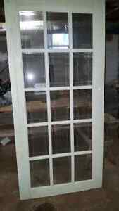 """36"""" wide 80"""" long beveled glass french door"""