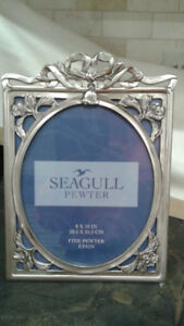 Wedding picture frame: Seagull Pewter