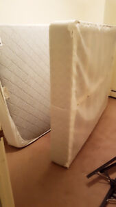Free.... bed frame , box spring and mattress