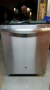 GE stainless steel (inside and out) dishwasher with new pump