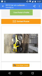 Looking for my Yellow 2015 Can Am Outlander L 450