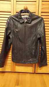 Wilson's Leather Jacket NAVY BLUE WOMEN'S SMALL