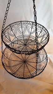 Hanging Double Basket  Black Wire - Avon Quality $10