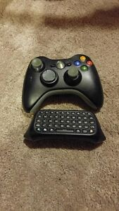 BLACK WIRELESS XBOX 360 CONTROLLERS FOR SALE WITH CHAT PAD