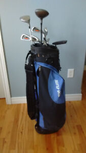 Top Flight Men's Right Handed Golf Club Set with Bag & Pull Cart
