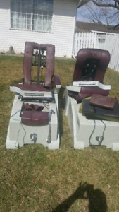 Pedicure massage chairs available