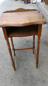 IF READING THIS AD THEN AVAILABLE VINTAGE ALL WOOD PHONE TABLE