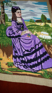 Lady in violet ( Szinyei Merse Pal (1874)