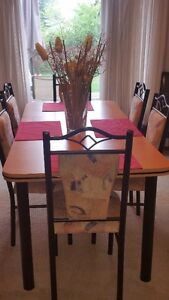 Kitchen table & 6 chairs & Credenza
