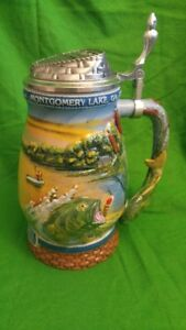 LONGTON CROWN WORLD RECORD BASS DECANTER STEIN