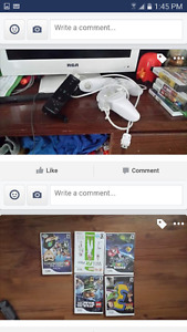 Nintendo wii with a few games