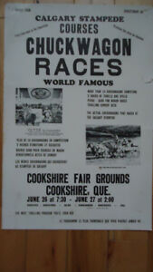 1960s VINTAGE Cookshire FAIR Calgary stampede sign