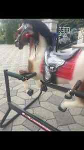 Horse riding bouncing pony