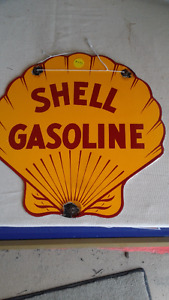 Shell Clam porcelain sign 12IN