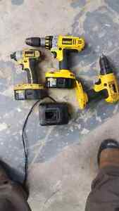 18v dewalt drills.. work great
