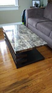 Marble veneer coffee table