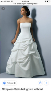 Alfred Angelo Size 8 White Gown