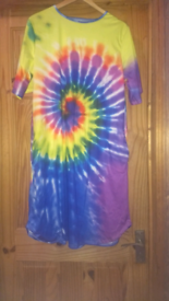 Brand-new tie-dyed tunic/dress with pockets