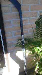 Homemade coat rack CCM hockey stick